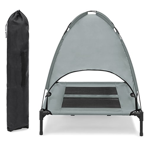 Best-Choice-Products-36in-Raised-Mesh-Cot-Cooling-Dog-Bed-wRemovable-Canopy-Tent-Travel-Bag-0-2