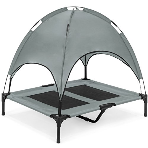 Best-Choice-Products-36in-Raised-Mesh-Cot-Cooling-Dog-Bed-wRemovable-Canopy-Tent-Travel-Bag-0
