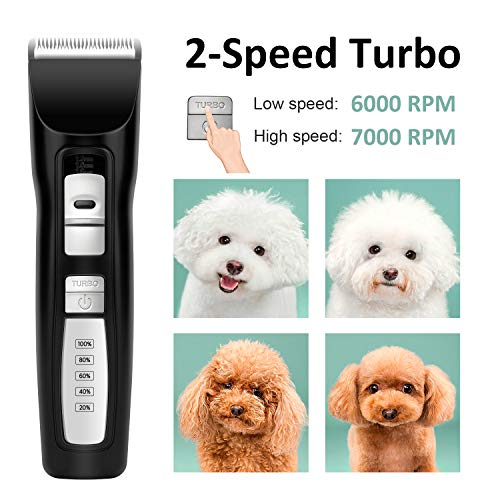 Bousnic-Dog-Clippers-2-Speed-Cordless-Pet-Hair-Grooming-Clippers-Kit-Professional-Rechargeable-for-Small-Medium-Large-Dogs-Cats-and-Other-Pets-Black-0-0