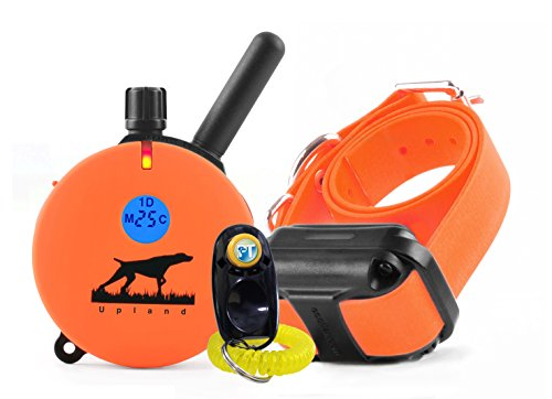 Bundle-of-2-items-E-Collar-UL-1200-1-Mile-Rechargeable-Remote-Waterproof-Upland-Hunting-Trainer-Educator-Static-Vibration-and-Sound-Stimulation-collar-with-PetsTEK-Dog-Training-Clicker-0