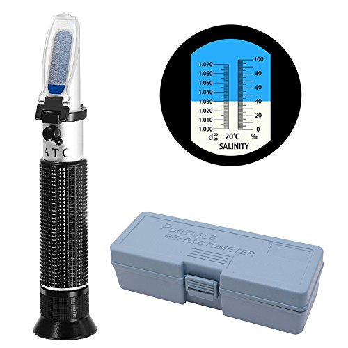 COCODE-Refractometer-Salinity-ATC-Hydrometer-Aquarium-Dual-Scale-Optical-Salinity-Meter-Specific-Gravity-Automatic-Temperature-Compensation-for-Pool-Sea-Water-Fish-Tank-Testing-0