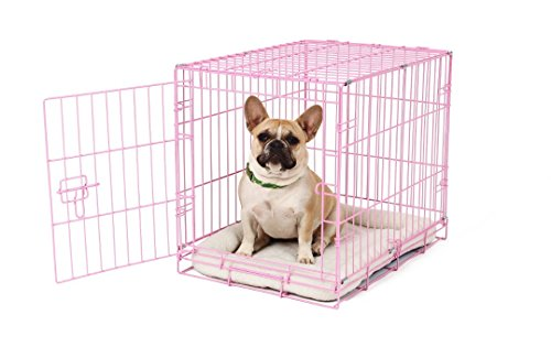 Carlson-Pink-Secure-and-Compact-Single-Door-Metal-Dog-Crate-Small-0