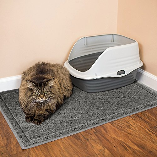 Cat-Litter-Box-Floor-Mat-Catch-Litter-With-Mesh-Mat-Large-Size-Washable-Modern-Non-Slip-PVC-Material-Protects-Your-Floors-Phthalate-Free-Gray-0-1