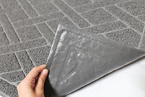 Cat-Litter-Box-Floor-Mat-Catch-Litter-With-Mesh-Mat-Large-Size-Washable-Modern-Non-Slip-PVC-Material-Protects-Your-Floors-Phthalate-Free-Gray-0-2