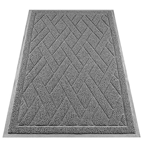 Cat-Litter-Box-Floor-Mat-Catch-Litter-With-Mesh-Mat-Large-Size-Washable-Modern-Non-Slip-PVC-Material-Protects-Your-Floors-Phthalate-Free-Gray-0