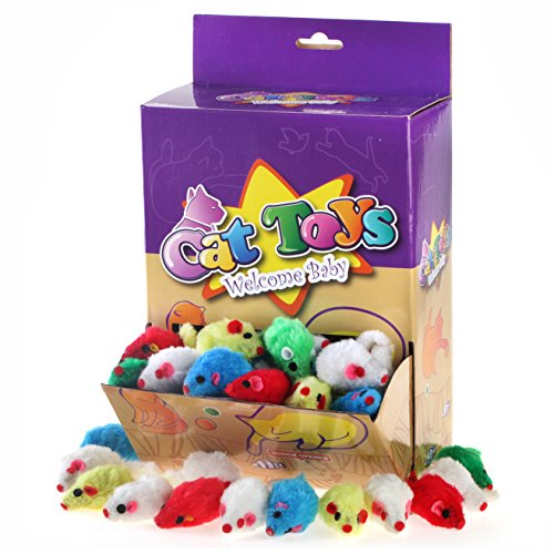 Chiwava-41-Furry-Cat-Toy-Mice-Rattle-Small-Mouse-Kitten-Interactive-Play-Assorted-Color-0