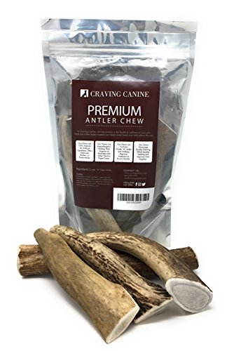 Craving-Canine-Grade-A-USA-Deer-Antlers-for-Dogs-Odorless-Split-Resistant-Horns-for-Aggressive-Chewers-Long-Lasting-Easy-to-Digest-Antler-Full-of-Glucosamine-for-Healthy-Joints-1-lbs-0-0