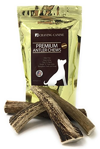 Craving-Canine-Grade-A-USA-Deer-Antlers-for-Dogs-Odorless-Split-Resistant-Horns-for-Aggressive-Chewers-Long-Lasting-Easy-to-Digest-Antler-Full-of-Glucosamine-for-Healthy-Joints-1-lbs-0