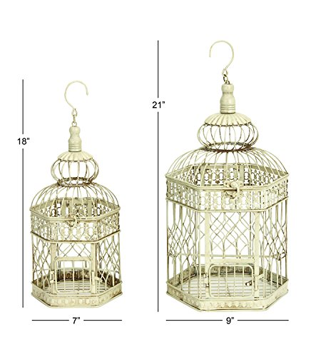 Deco-79-Metal-Bird-Cage-21-Inch-and-18-Inch-Set-of-2-0-0