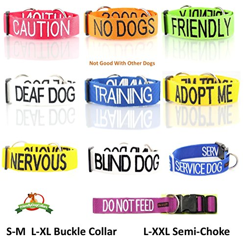Dexil-Caution-Red-Dog-Bandana-Quality-Personalised-Embroidered-Message-Neck-Scarf-Fashion-Accessory-Prevents-Accidents-by-Warning-Others-of-Your-Dog-in-Advance-0-2