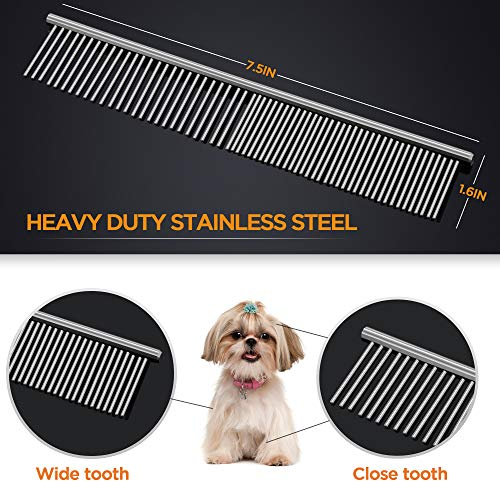 Dog-Grooming-Scissors-Gimars-Heavy-Duty-Titanium-Coated-Stainless-Steel-Pet-Grooming-Trimmer-Kit-Perfect-Thinning-Straight-Curved-Shears-with-Comb-for-Long-Short-Hair-Fur-for-Cat-and-More-Pets-0-1