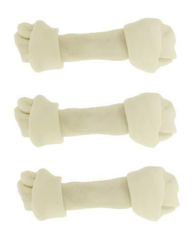 Dog-rawhide-bones-Bulk-pack-of-3-natural-rawhide-protein-treats-knot-bone-chews-Medium-0