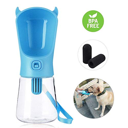 Domipet-Dog-Filtration-Water-Bottle-for-Walking-Portable-Pets-Water-Dispenser-Leak-Proof-Indoor-Outdoor-Car-Ride-Travel-Use-Drink-Cup-BPA-Free-with-3-Filters-for-Small-Dogs-Cats-350ml12oz-0