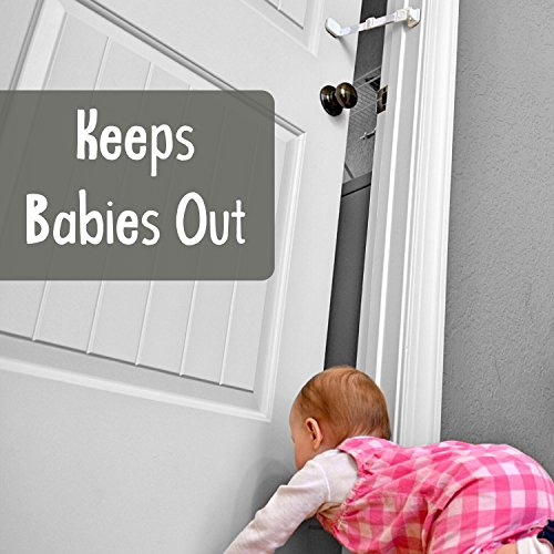 Door-Buddy-Child-Door-Lock-and-Foam-Baby-Door-Stopper-Baby-Proofing-Doors-Made-Simple-with-Easy-to-Use-Hook-and-Latch-Keep-Baby-Out-Prevent-Finger-Pinch-Injuries-and-Allow-Cats-Easy-Access-0-0