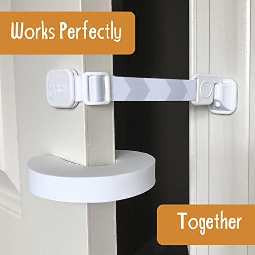 Door-Buddy-Child-Door-Lock-and-Foam-Baby-Door-Stopper-Baby-Proofing-Doors-Made-Simple-with-Easy-to-Use-Hook-and-Latch-Keep-Baby-Out-Prevent-Finger-Pinch-Injuries-and-Allow-Cats-Easy-Access-0-1
