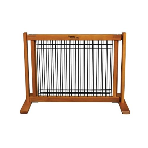 Dynamic-Accents-Wood-and-Wire-Pet-Gate-Fence-Home-Decor-Small-Artisan-Bronze-0
