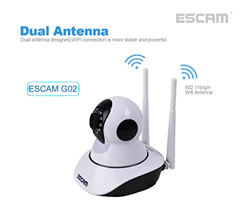 ESCAM-IP-Camera-Wireless-Security-Camera-Surveillance-System-HD-720P-with-Night-Vision-PanTilt-Two-Way-Audio-Remote-View-Indoor-Camera-with-iOS-Android-APP-Support-128G-TF-Card-0-0
