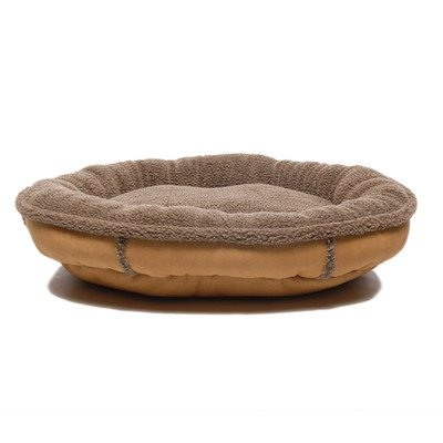 Everest-Pet-0145-Tan-Faux-Suede-Oblong-Comfy-Cup-Dog-Bed-in-Tan-Size-Medium-36-x-33-0