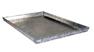 Everila-Dog-Crate-Cage-Kennel-Replacement-Galvanized-Steel-Metal-Heavy-Duty-Pan-Tray-Floor-41-Lx27-Wx1-H-fits-42-Lx28-W-crates-0