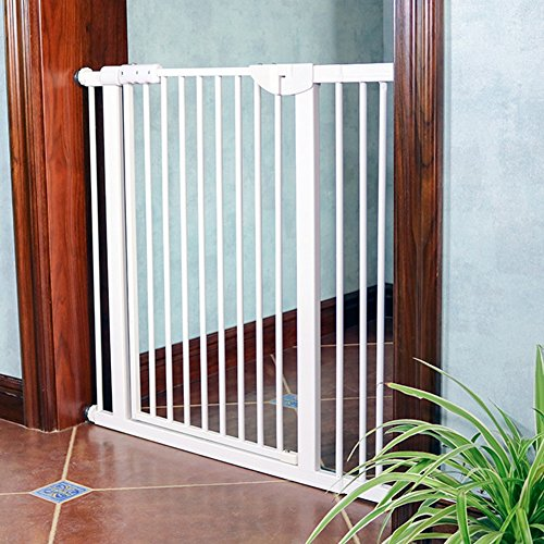 Extra-Wide-Pet-Gates-For-Stairs-Doorway-Indoor-Pressure-Mounted-BabyDogCat-Door-71-180cm-Wide-White-Metal-0