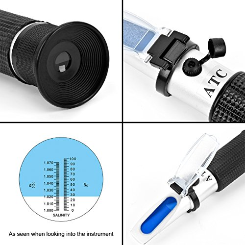 Eyourlife-Salinity-Refractomer-Aquarium-Optical-Optics-Refractometer-With-Auto-Temperature-Compensation-ATC-Digital-Dual-Scale-Salinity-Meter-Hydrometer-Specific-Gravity-For-Saltwater-Seawater-Marine-0-1