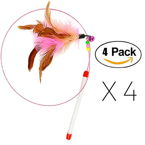 FANCER-Cat-Toy-Feather-Wand-Bundle-of-4-Pack-Interactive-Pet-Cat-Kitten-Chaser-Teaser-Wire-Wand-with-Bell-Beads-for-Cat-Exercise-Play-Fun-Gifts-Wholesale-0