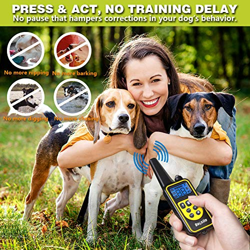 FUNSHION-Shock-Collar-for-Dogs-2600-FT-Dog-Shock-Collar-with-Remote-Beep-Vibration-Shock-Light-Modes-Dog-Training-Collar-IPX7-100-Waterproof-and-Rechargeable-Shock-Collar-0-2