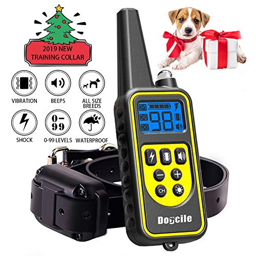 FUNSHION-Shock-Collar-for-Dogs-2600-FT-Dog-Shock-Collar-with-Remote-Beep-Vibration-Shock-Light-Modes-Dog-Training-Collar-IPX7-100-Waterproof-and-Rechargeable-Shock-Collar-0