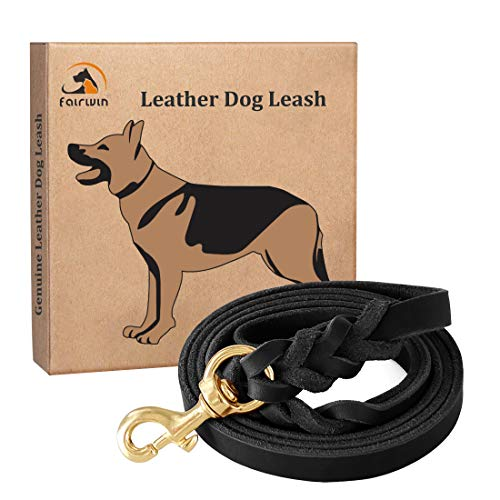 Fairwin-Leather-Dog-Leash-6-Foot-Braided-Best-Military-Grade-Heavy-Duty-Dog-Leash-for-Large-Medium-Small-Dogs-Training-and-Walking-0