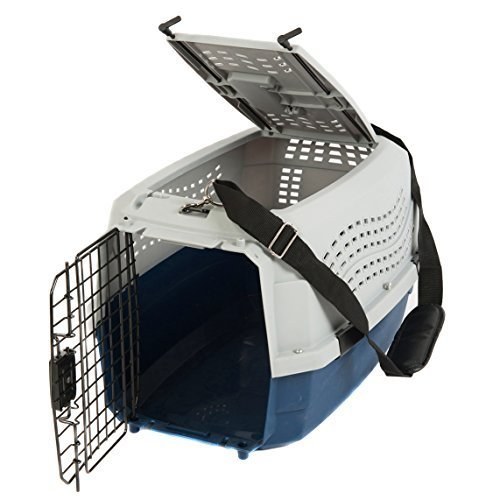 Favorite-Dog-Cat-Rabbit-Two-Door-Top-Load-Car-Travel-Vet-Visit-Pet-Carrier-0