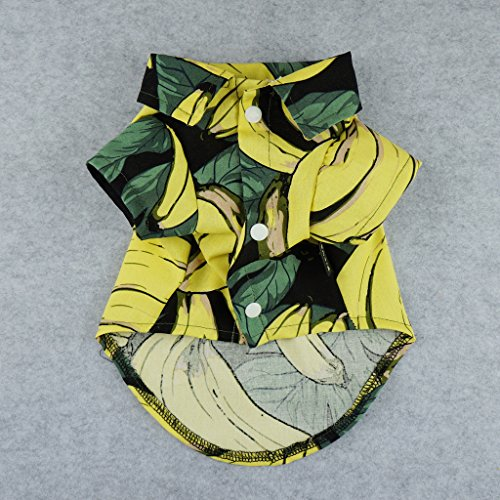 Fitwarm-Banana-Pet-Clothes-for-Dog-Shirts-Cat-Polo-Apparel-Yellow-0-0