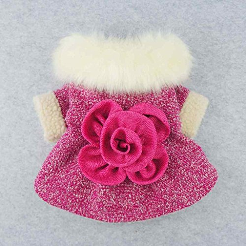 Fitwarm-Elegant-Pink-Floral-Faux-Furred-Dog-Coats-Pet-Clothes-Winter-Dresses-0-0