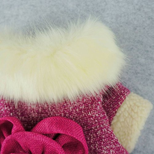 Fitwarm-Elegant-Pink-Floral-Faux-Furred-Dog-Coats-Pet-Clothes-Winter-Dresses-0-1