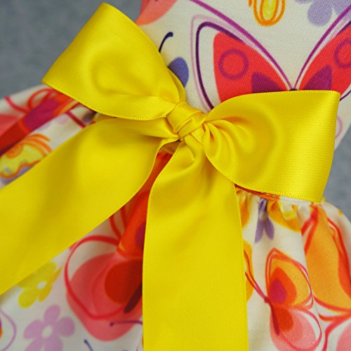Fitwarm-Floral-Butterfly-Dog-Dresses-Clothes-Pet-Vest-Shirts-Cat-Apparel-Yellow-0-1