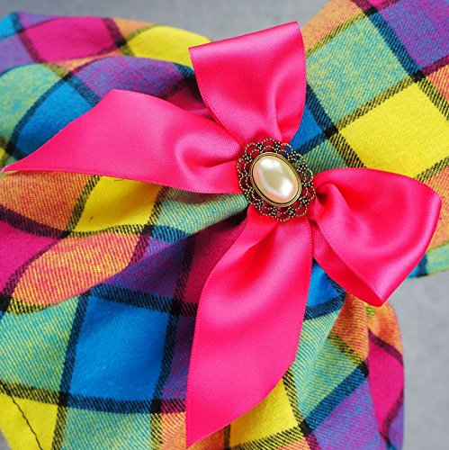 Fitwarm-Vintage-Plaid-Pet-Clothes-Dog-Dress-Ribbon-Dog-Vest-Shirts-Apparel-0-1