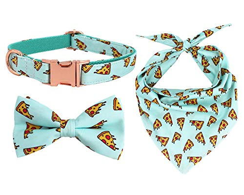 Free-Sunday-Personalized-Dog-Collar-Collection-Bow-Tie-and-Bandana-0