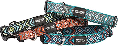 Friends-Forever-Dog-Collar-for-Dogs-Fashion-Woven-Square-Pattern-Cute-Puppy-Collar-Available-in-Size-SmallMediumLarge-0-1