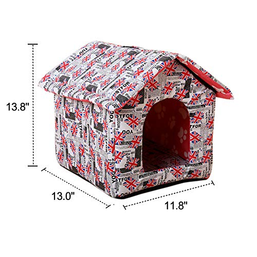 Garden-Land-Portable-Folding-CAT-House-Soft-WarmWaterproof-and-Comfortable-and-goes-Everywhere-0