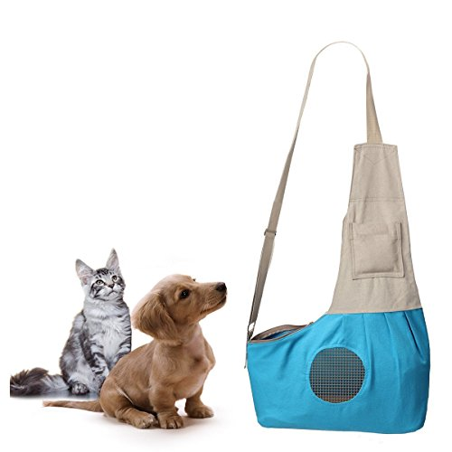 GrayCell-Hands-Free-Pet-Sling-Carrier-Puppy-Purse-Shoulder-Bag-with-Adjustable-Strap-for-Small-Dogs-and-Cats-up-to-9-lb-0