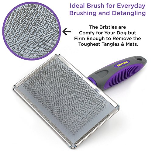 Hertzko-Slicker-Brush-for-Dogs-and-Cats-Pet-Grooming-Dematting-Brush-Easily-Removes-Mats-Tangles-and-Loose-Fur-from-The-Pets-Coat-0-1
