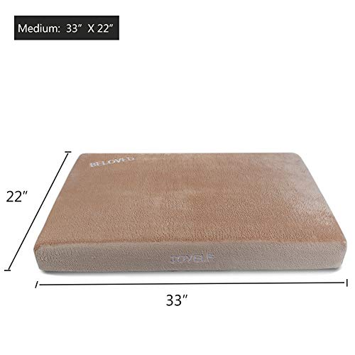 JOYELF-Memory-Foam-Orthopedic-Dog-Bed-with-Liner-Waterproof-Protector-Washable-Cover-and-Soft-Blanket-as-Gift-0-1