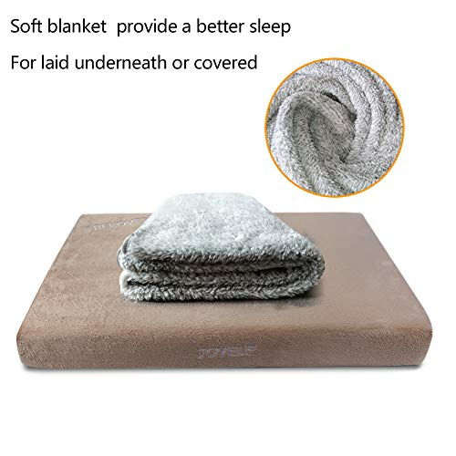 JOYELF-Memory-Foam-Orthopedic-Dog-Bed-with-Liner-Waterproof-Protector-Washable-Cover-and-Soft-Blanket-as-Gift-0-2