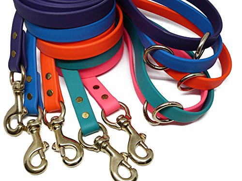 JimHodgesDogTraining-Gummy-Dog-Leash-Biothane-Dog-Training-Leash-Made-in-The-USA-6-Feet-Various-Sizes-Colors-0