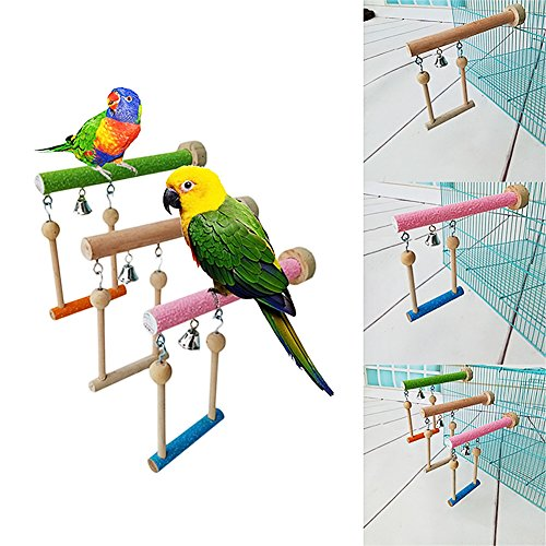 Keersi-Wood-Perch-Toy-with-Bell-for-Bird-Parrot-Parakeet-Cockatiel-Conure-Cockatoo-African-Grey-Macaw-Eclectus-Amazon-Lovebird-Finch-Canary-Budgie-Cage-Stand-Swing-0-2