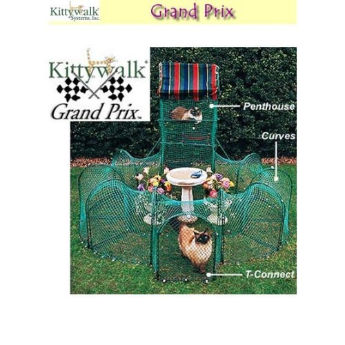Kittywalk-Grand-Prix-Outdoor-Cat-Enclosure-Green-0