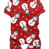 Lanyarco-Lovely-Small-Pet-Dogs-Pajamas-Clothes-100-Cotton-Snowman-Snowflake-Red-0