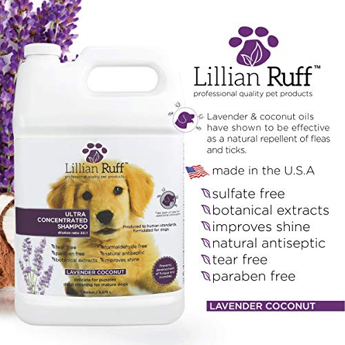 Lillian-Ruff-Professional-Dog-Shampoo–Concentrated-Dog-Shampoo-with-Aloe–Tear-Free-Lavender-Coconut-Scent–Soothe-Cleanse-Normal-to-Dry-Itchy-Sensitive-Skin–Made-in-USA-0-0