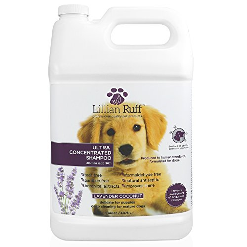 Lillian-Ruff-Professional-Dog-Shampoo–Concentrated-Dog-Shampoo-with-Aloe–Tear-Free-Lavender-Coconut-Scent–Soothe-Cleanse-Normal-to-Dry-Itchy-Sensitive-Skin–Made-in-USA-0