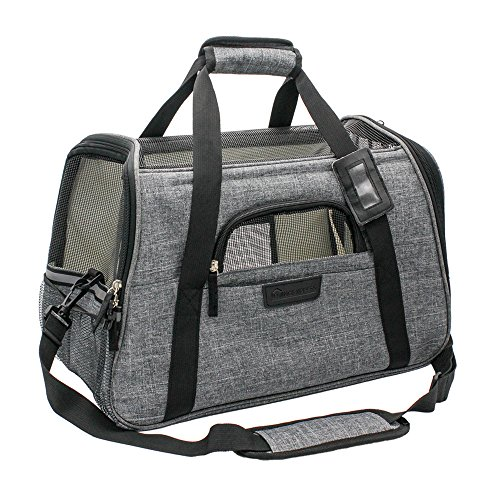 Living-Express-Cat-Carrier-Airline-Approved-Soft-Sided-Pet-Carrier-Foldable-with-MatFits-Under-Airplane-Seat-for-Small-Dogs-Cats175-L-x-10-W-x-11-H-0