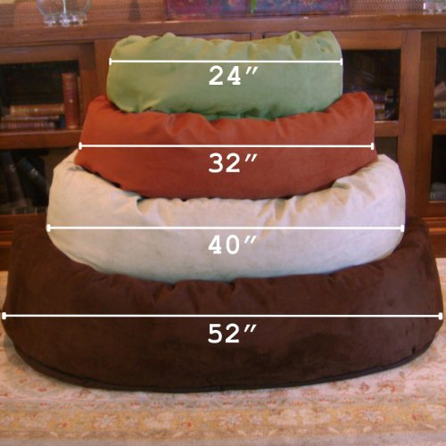 Majestic-Pet-Extra-Large-52-Bagel-Dog-Pet-Bed-MicroSuede-Stone-0-0